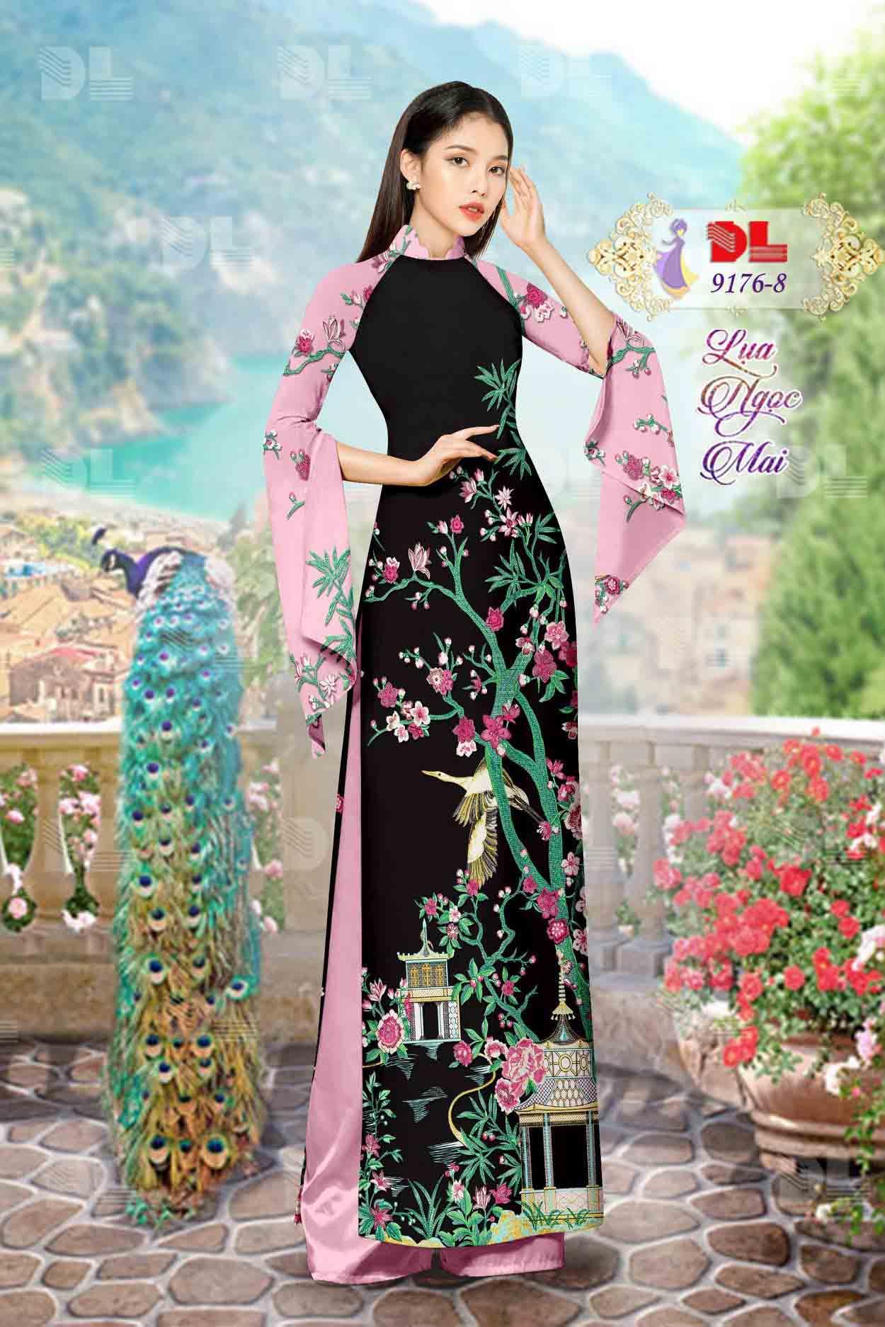 Vải Áo Dài Phong Cảnh AD 9176 55