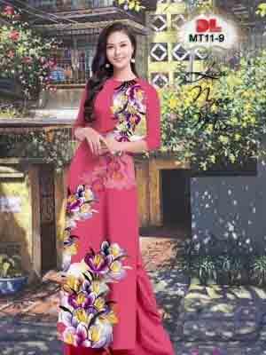 Vải Áo Dài Hoa In 3D AD MT11 29