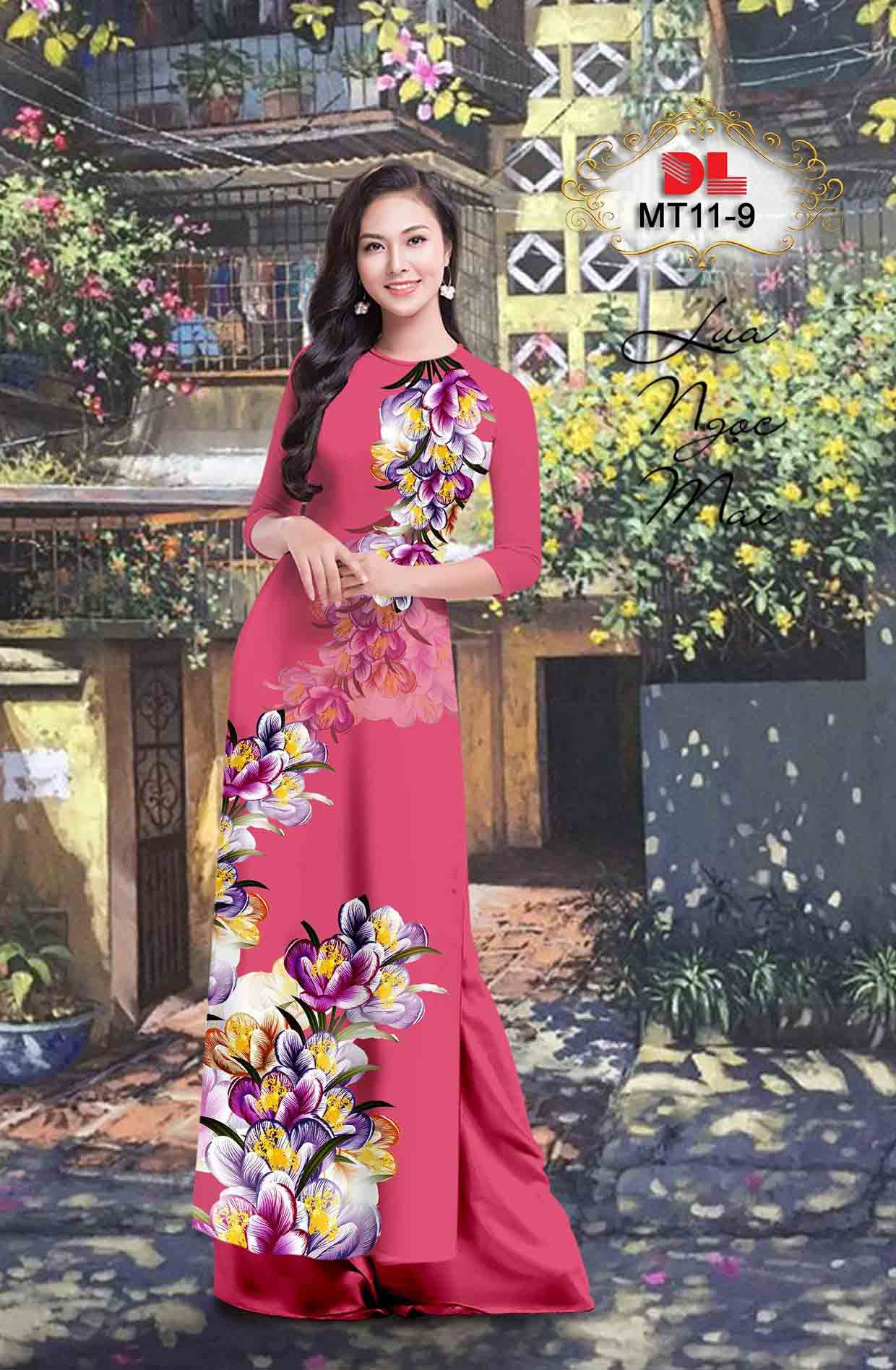 Vải Áo Dài Hoa In 3D AD MT11 48