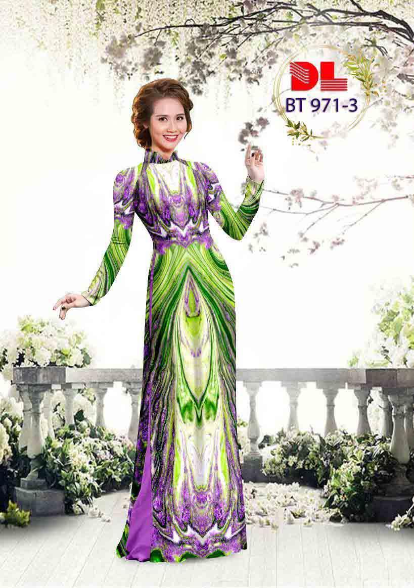 Vải Áo Dài Hoa Văn AD BT971 22