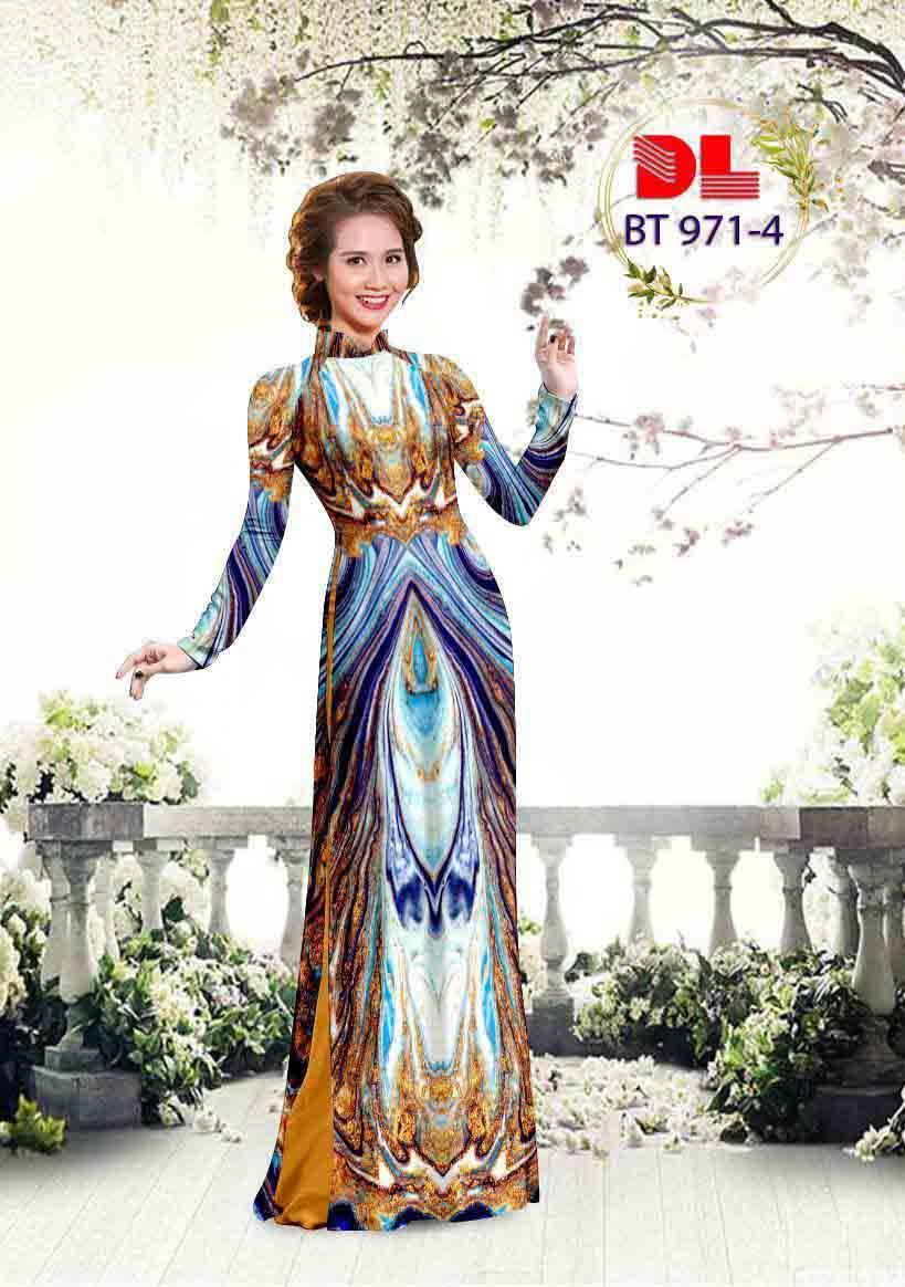 Vải Áo Dài Hoa Văn AD BT971 26