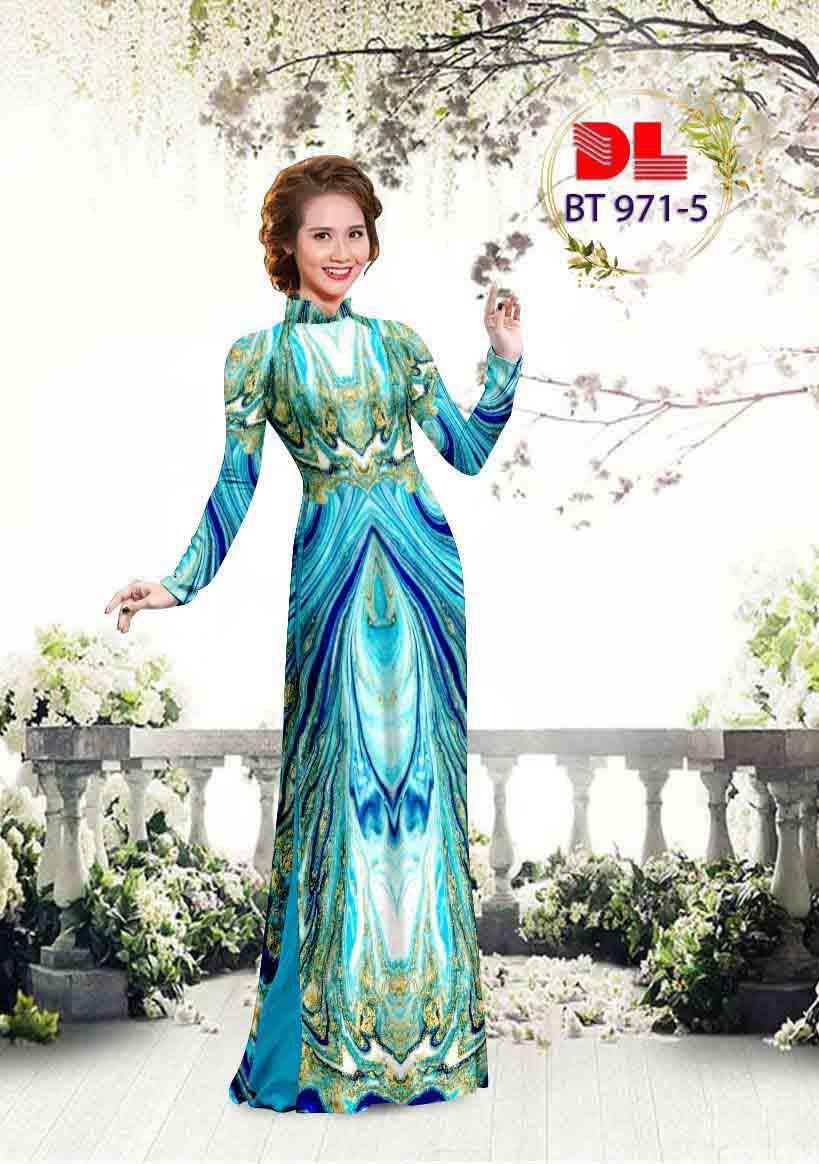 Vải Áo Dài Hoa Văn AD BT971 23