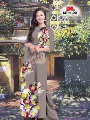 Vải Áo Dài Hoa In 3D AD MT11 36