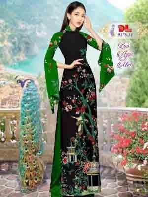 Vải Áo Dài Phong Cảnh AD 9176 45