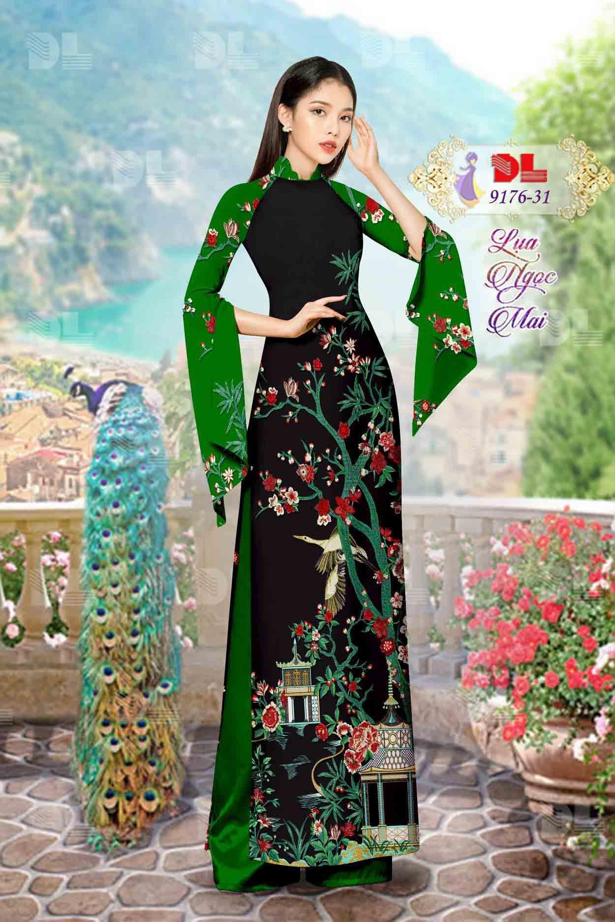 Vải Áo Dài Phong Cảnh AD 9176 70