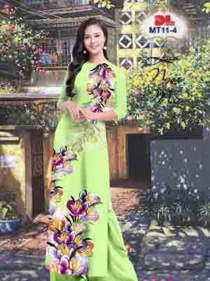Vải Áo Dài Hoa In 3D AD MT11 24