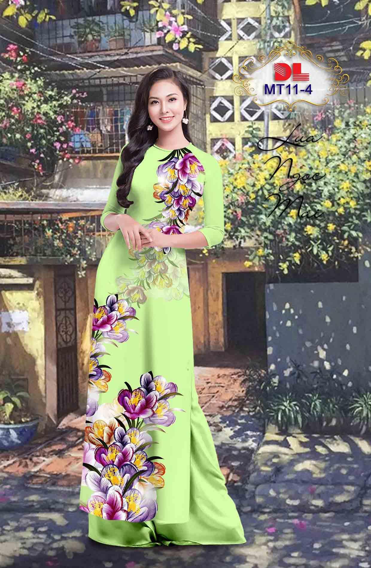 Vải Áo Dài Hoa In 3D AD MT11 43