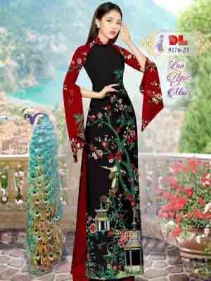 Vải Áo Dài Phong Cảnh AD 9176 42