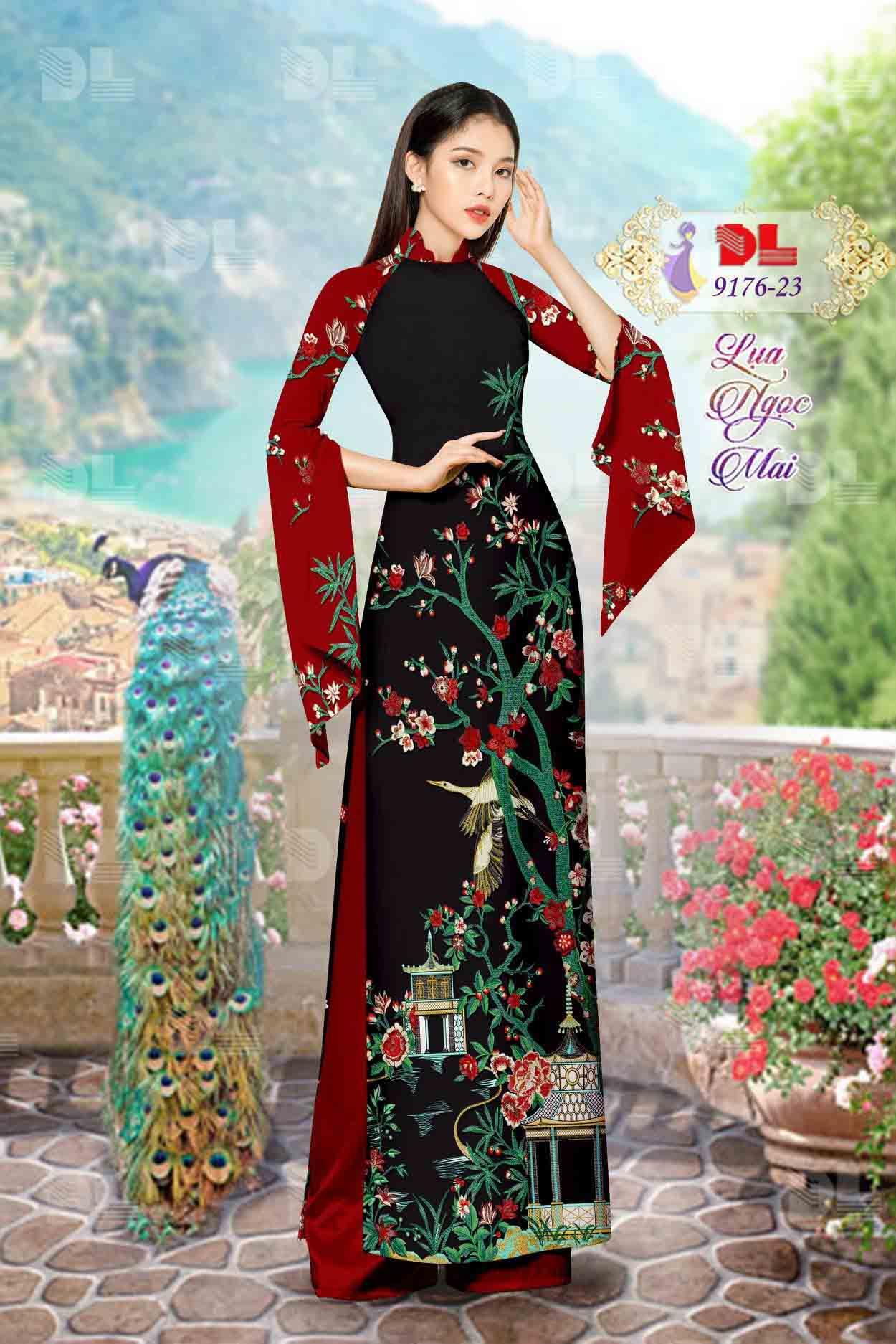 Vải Áo Dài Phong Cảnh AD 9176 67
