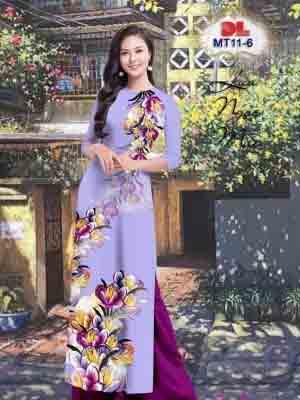 Vải Áo Dài Hoa In 3D AD MT11 26