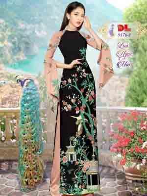 Vải Áo Dài Phong Cảnh AD 9176 27