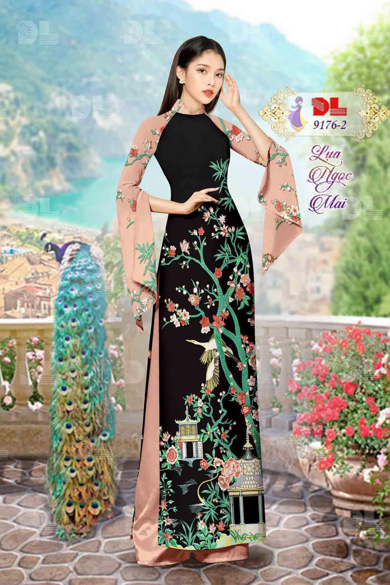 Vải Áo Dài Phong Cảnh AD 9176 52
