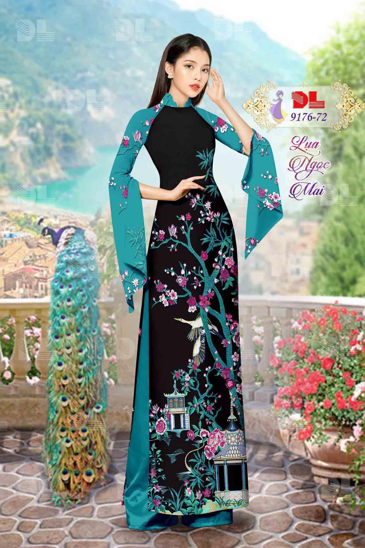 Vải Áo Dài Phong Cảnh AD 9176 49