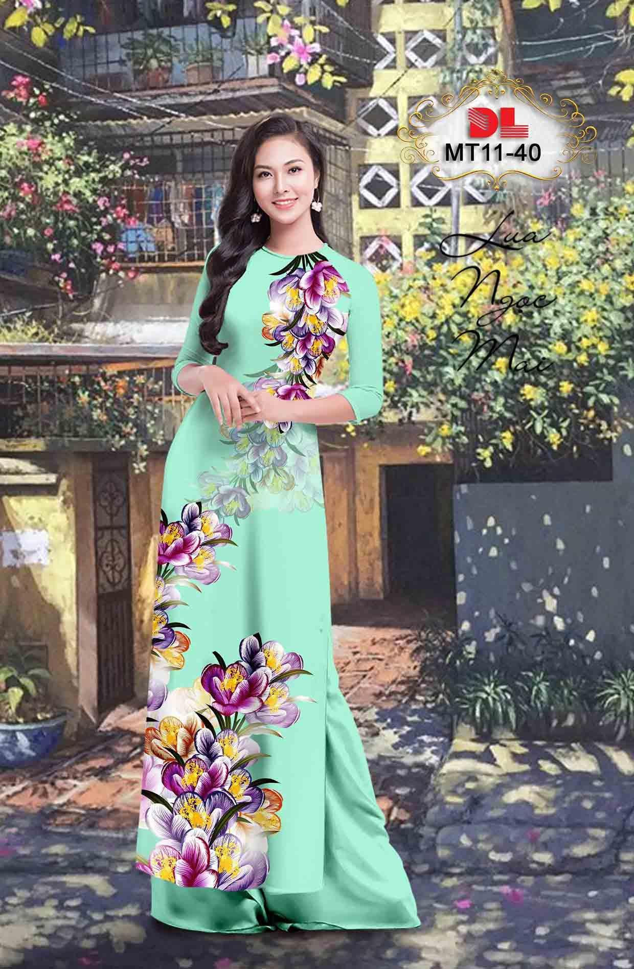 Vải Áo Dài Hoa In 3D AD MT11 37