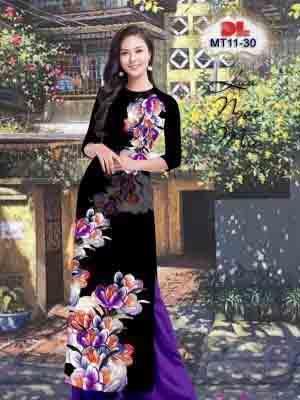 Vải Áo Dài Hoa In 3D AD MT11 20