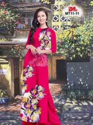 Vải Áo Dài Hoa In 3D AD MT11 30