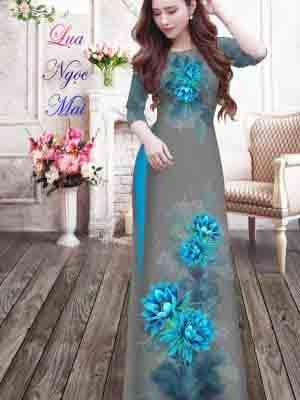 Vải Áo Dài Hoa In 3D AD MT9 27