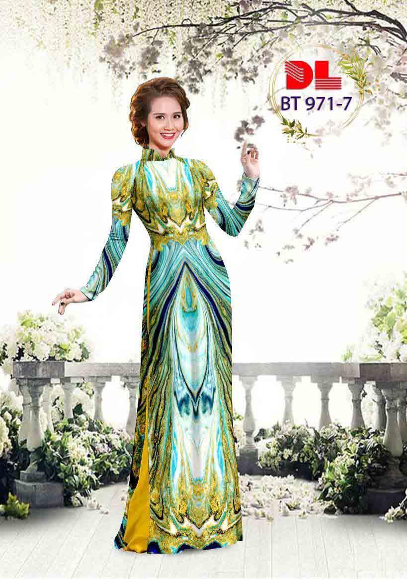 Vải Áo Dài Hoa Văn AD BT971 24