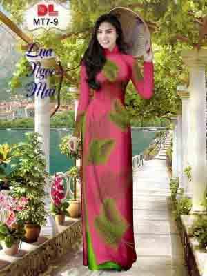 Vải Áo Dài In Hình Lá AD MT7 23