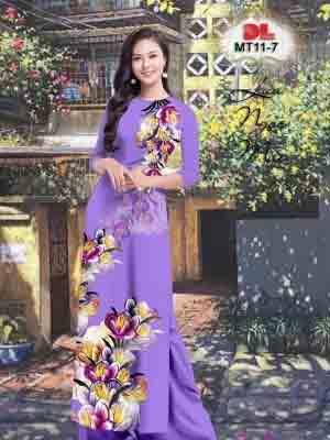 Vải Áo Dài Hoa In 3D AD MT11 27