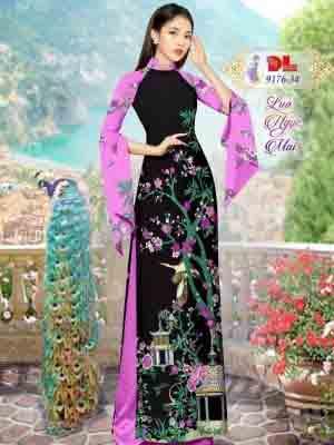 Vải Áo Dài Phong Cảnh AD 9176 46