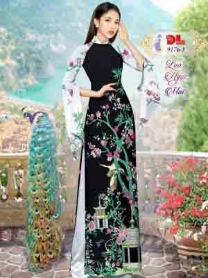 Vải Áo Dài Phong Cảnh AD 9176 26
