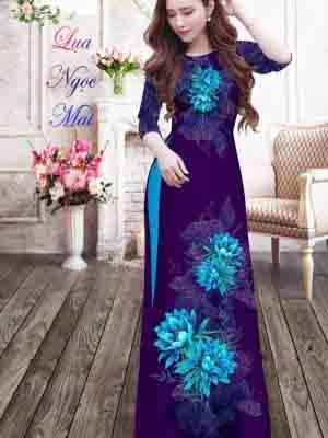 Vải Áo Dài Hoa In 3D AD MT9 28