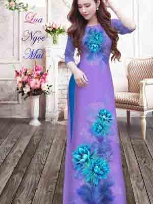 Vải Áo Dài Hoa In 3D AD MT9 22
