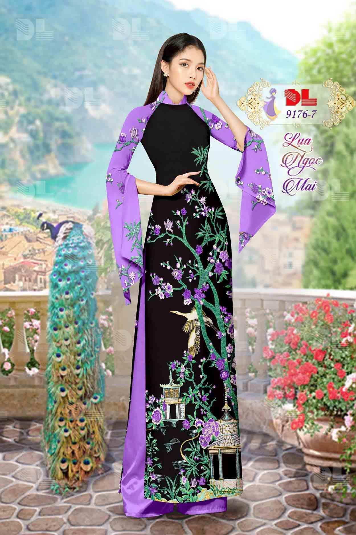 Vải Áo Dài Phong Cảnh AD 9176 54