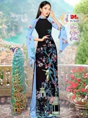 Vải Áo Dài Phong Cảnh AD 9176 47