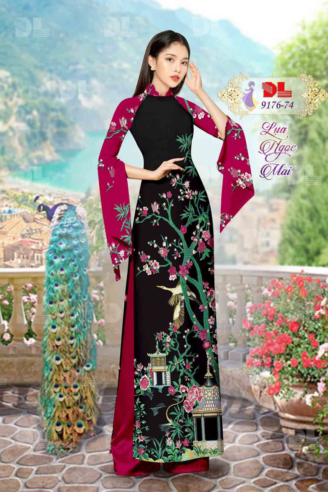 Vải Áo Dài Phong Cảnh AD 9176 50