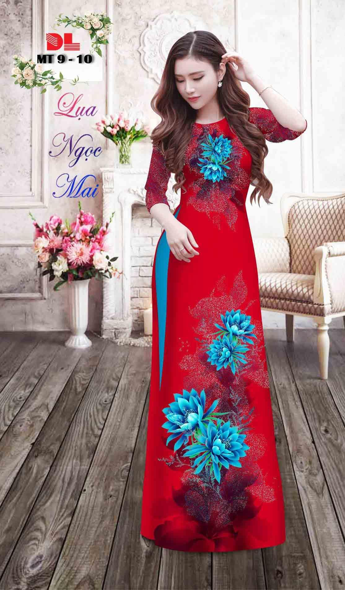Vải Áo Dài Hoa In 3D AD MT9 38