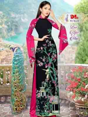 Vải Áo Dài Phong Cảnh AD 9176 33