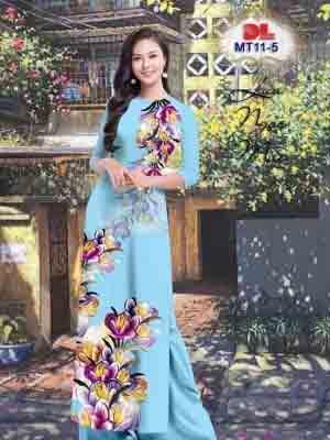 Vải Áo Dài Hoa In 3D AD MT11 25
