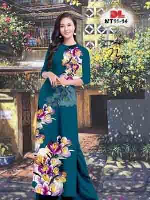 Vải Áo Dài Hoa In 3D AD MT11 31