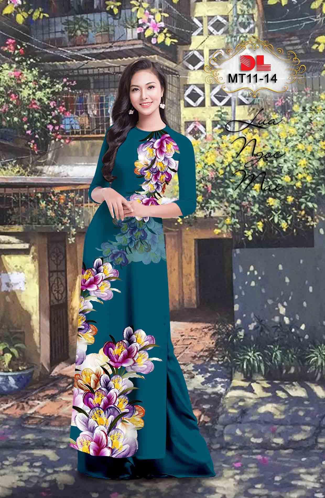 Vải Áo Dài Hoa In 3D AD MT11 50