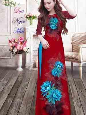 Vải Áo Dài Hoa In 3D AD MT9 25
