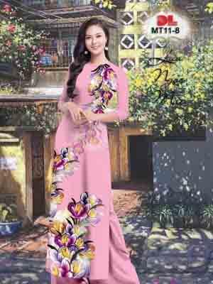 Vải Áo Dài Hoa In 3D AD MT11 28