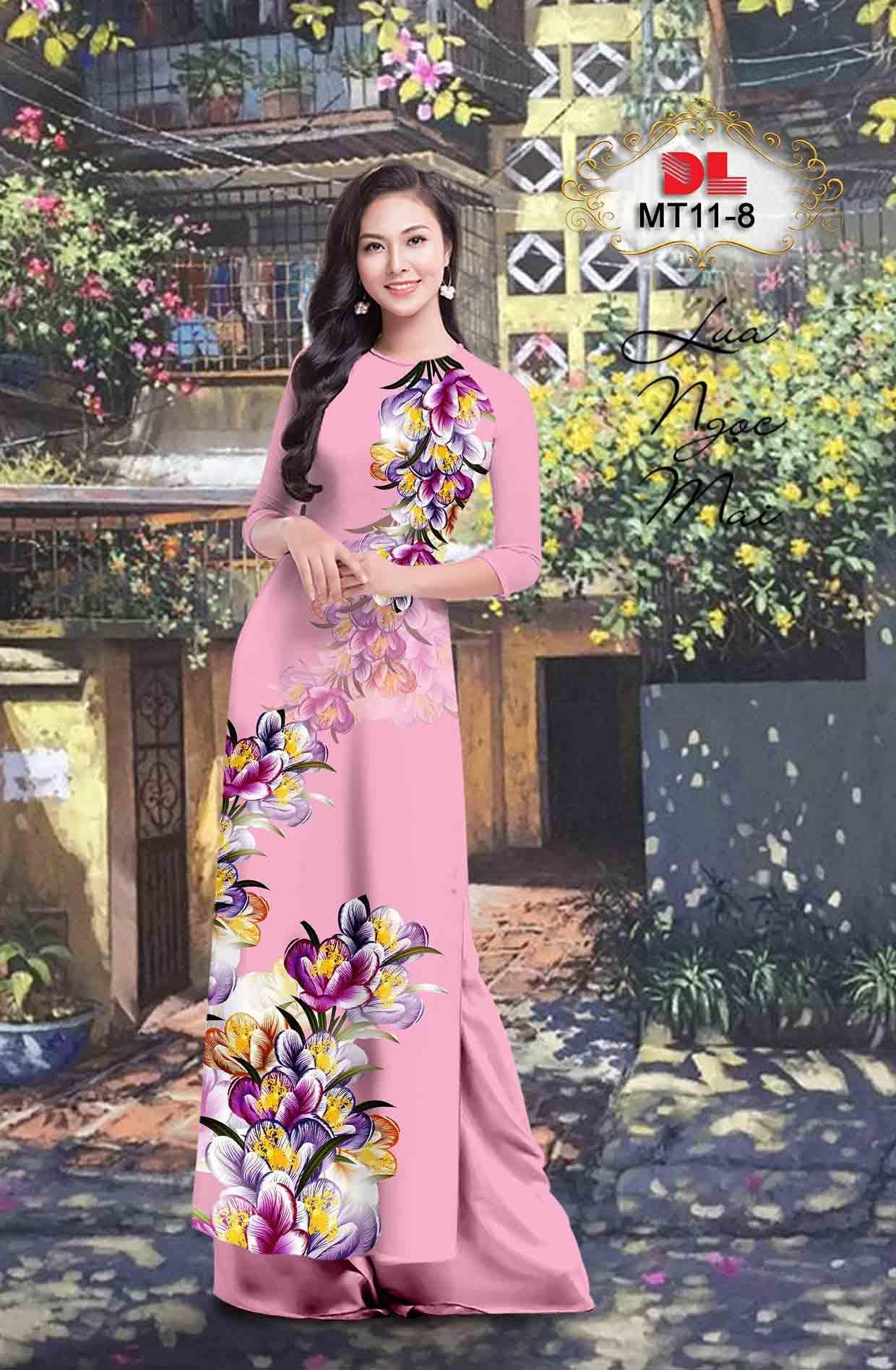Vải Áo Dài Hoa In 3D AD MT11 47