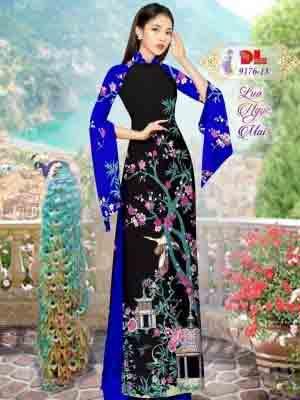 Vải Áo Dài Phong Cảnh AD 9176 35