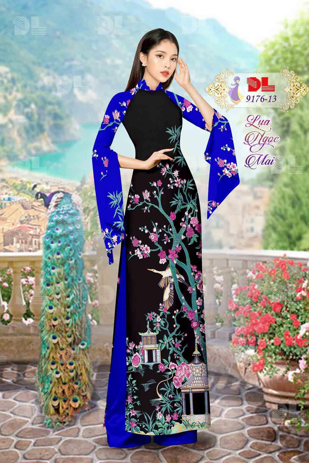 Vải Áo Dài Phong Cảnh AD 9176 60