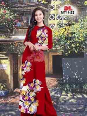 Vải Áo Dài Hoa In 3D AD MT11 34