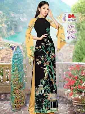 Vải Áo Dài Phong Cảnh AD 9176 48