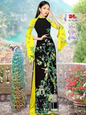 Vải Áo Dài Phong Cảnh AD 9176 39