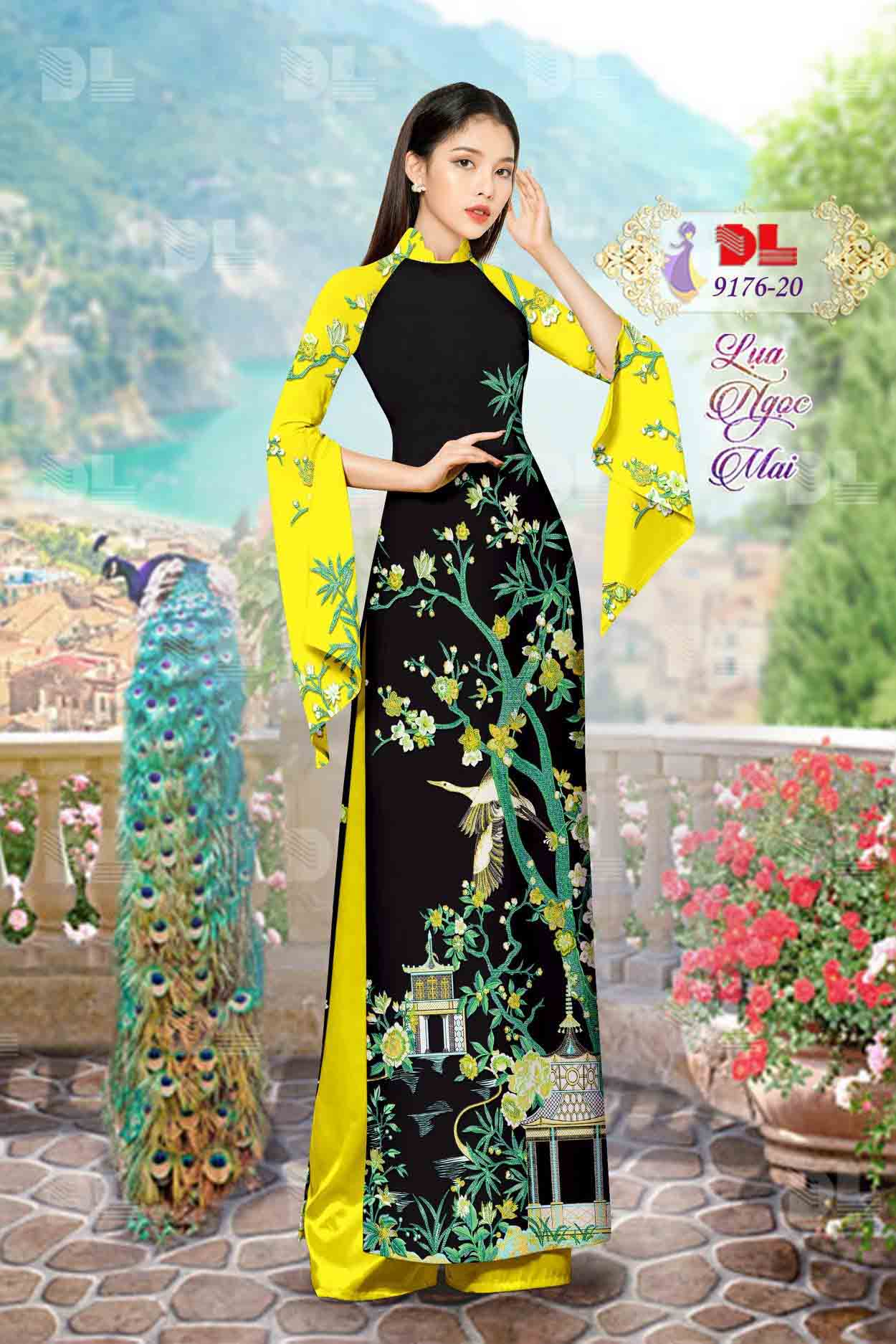 Vải Áo Dài Phong Cảnh AD 9176 64