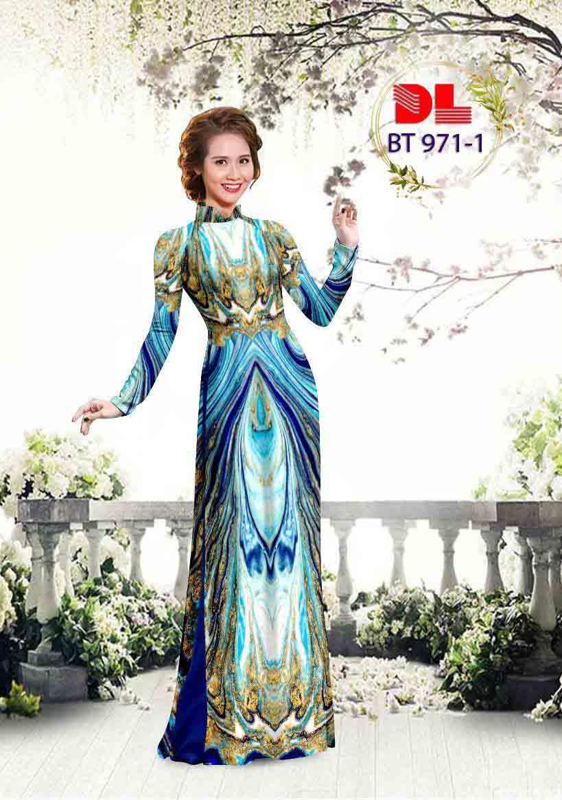 Vải Áo Dài Hoa Văn AD BT971 27