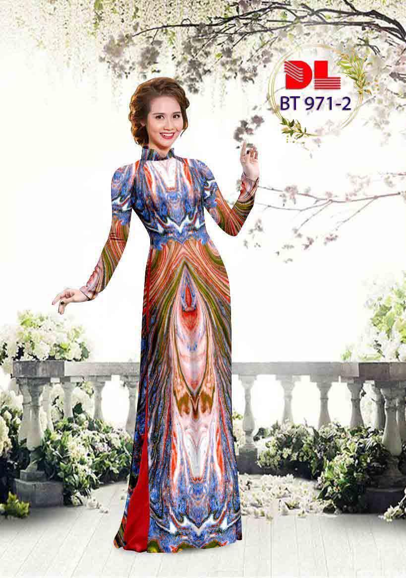 Vải Áo Dài Hoa Văn AD BT971 20