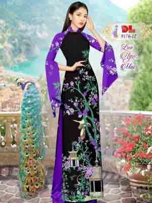 Vải Áo Dài Phong Cảnh AD 9176 34