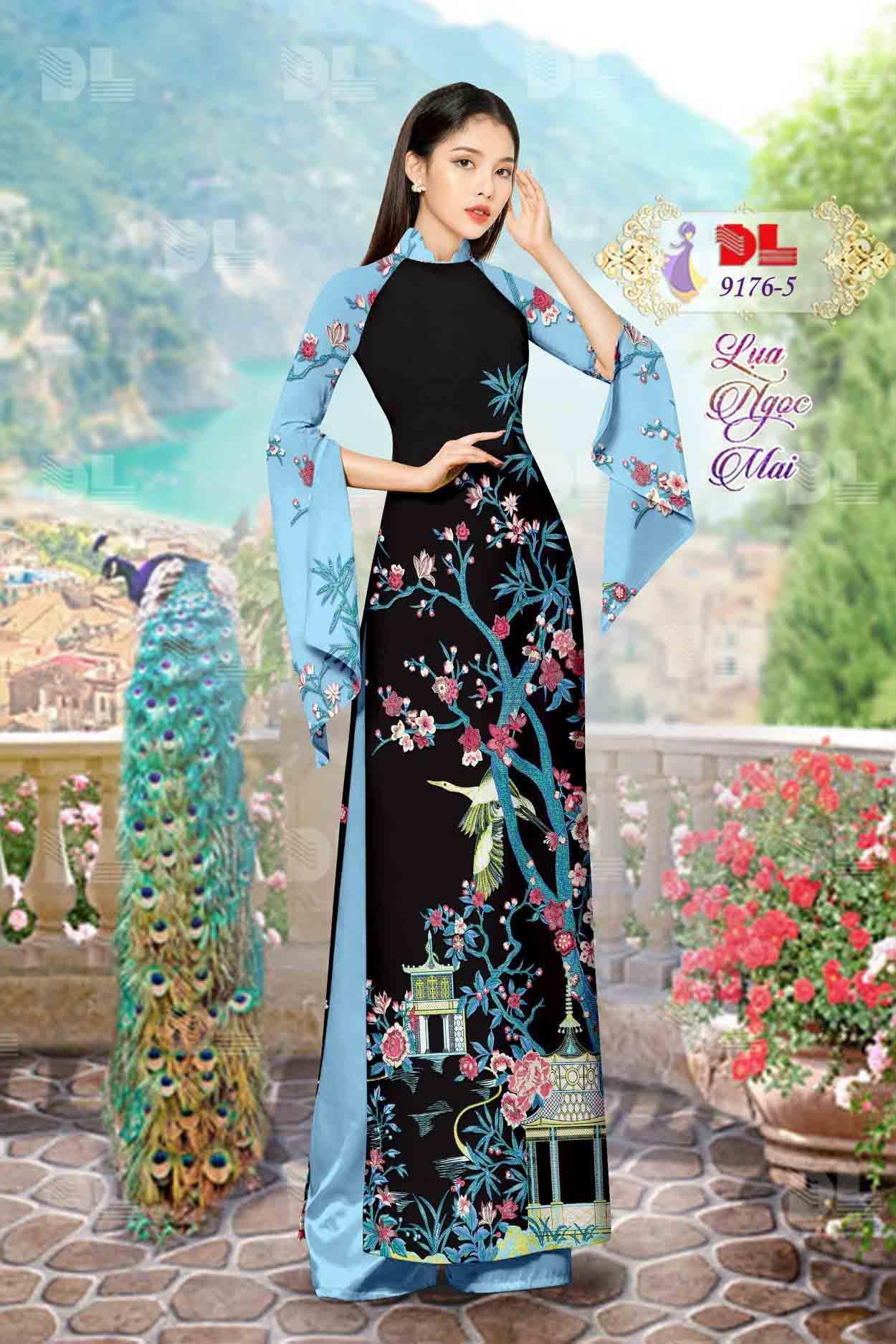 Vải Áo Dài Phong Cảnh AD 9176 53