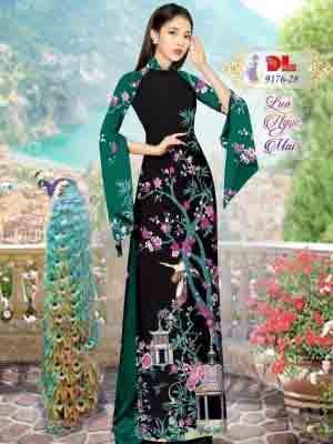 Vải Áo Dài Phong Cảnh AD 9176 44